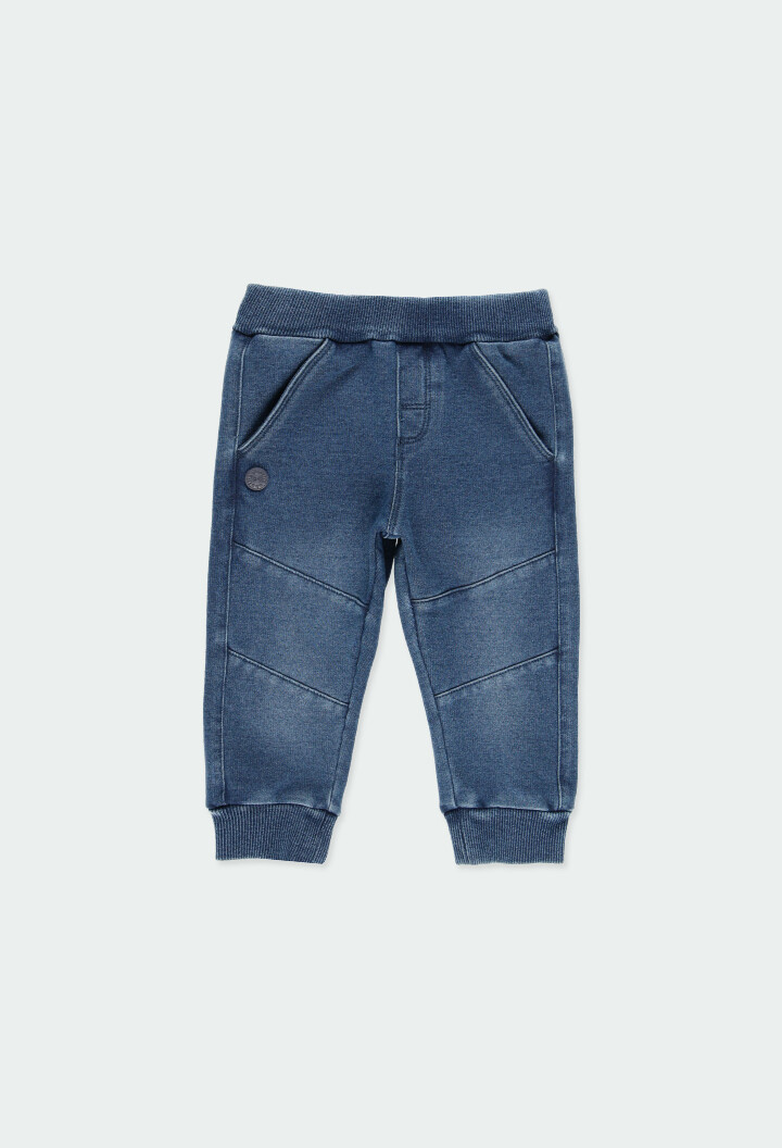 Boboli Boys Fleece denim trousers