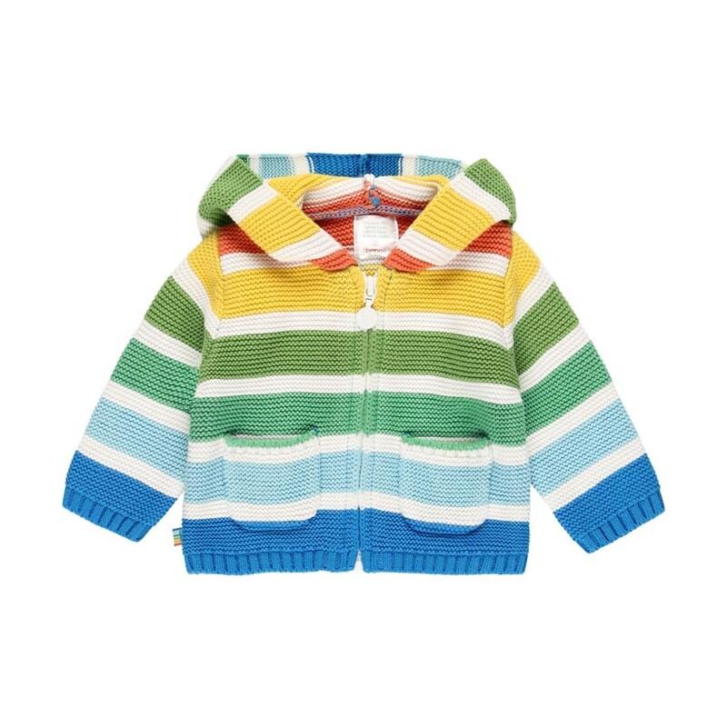 Boboli Baby Knitwear hooded jacket
