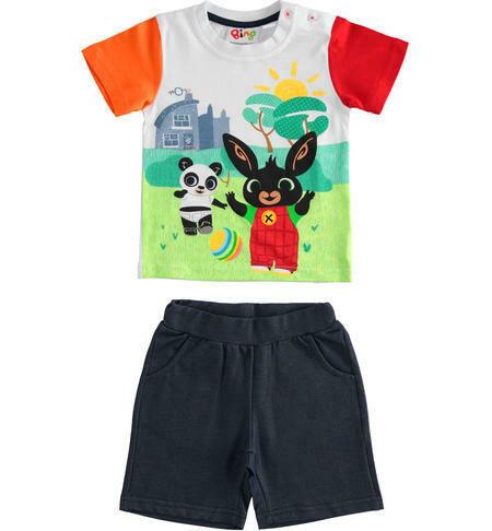 IDO Mini Boys Bing and Pando T-shirt and short trousers