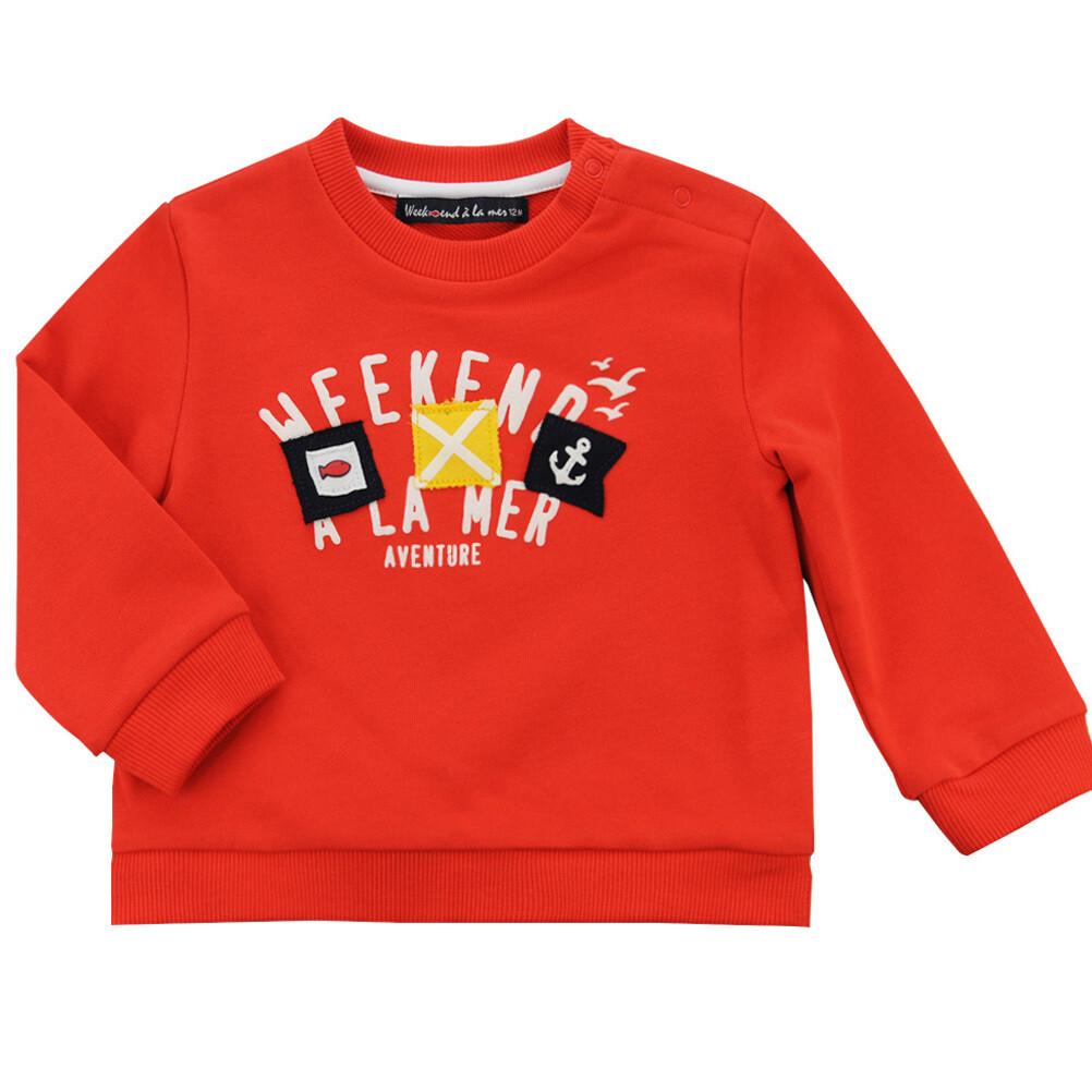 Weekend a la Mer Belair Red Sweatshirt