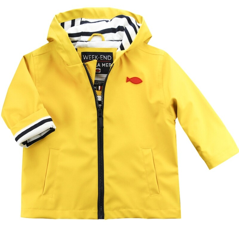 Weekend a La Mer Yellow  Raincoat