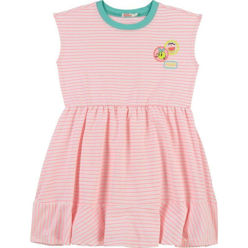 Billie Blush Girls Pink Stripe Summer dress