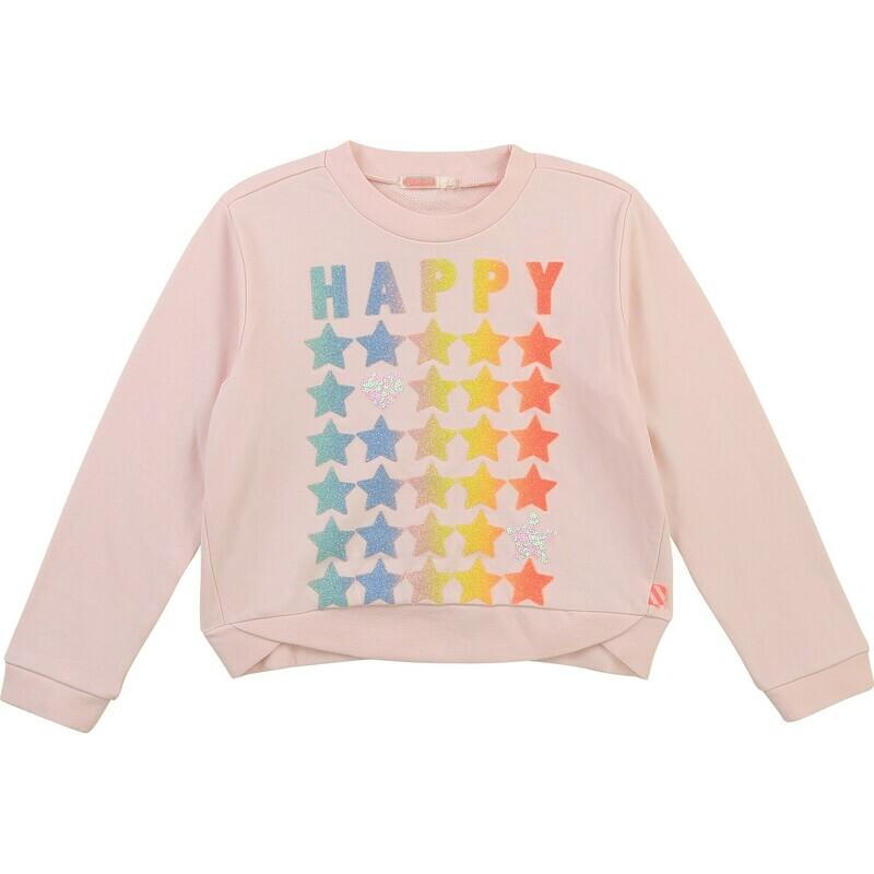 Billie Blush Pink Sweatshirt Rainbow/pink for Girls