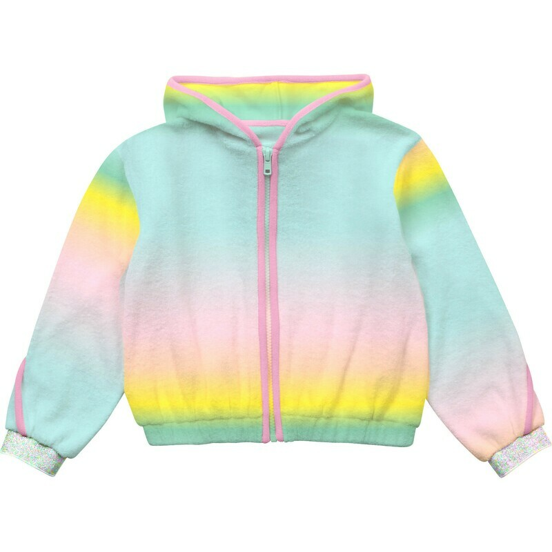 Billie Blush Pink Hood Sweatshirt Rainbow for Girls