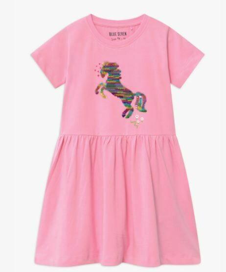 Blue 7 Girls Unicorn Pink  Summer Dress