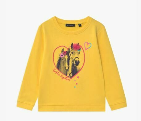 Blue Seven Girls Sweatshirt with Horse Print