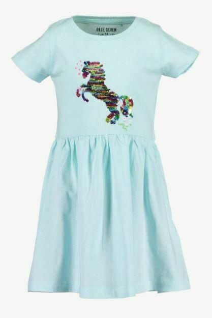 Blue 7 Girls Unicorn Blue Summer Dress