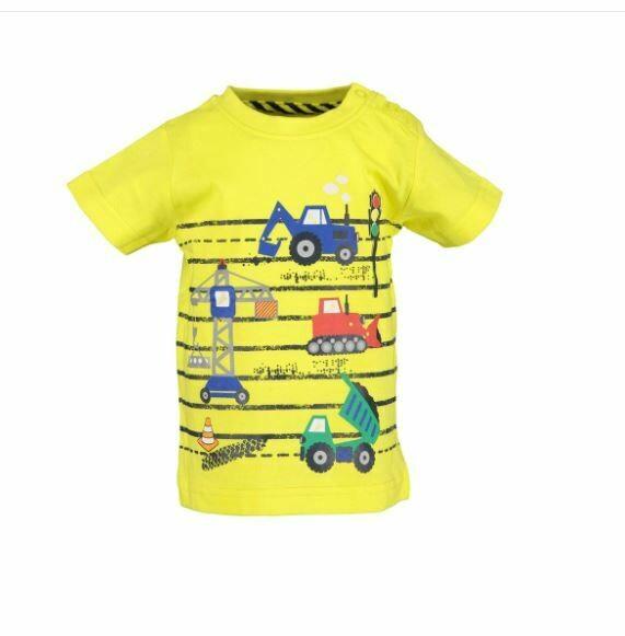 Blue Seven Baby Boys Construction Yellow Tee