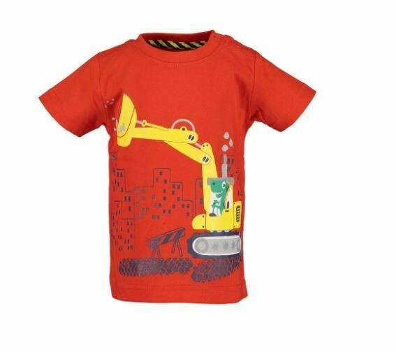 Blue Seven Baby Boys Construction Red Tee