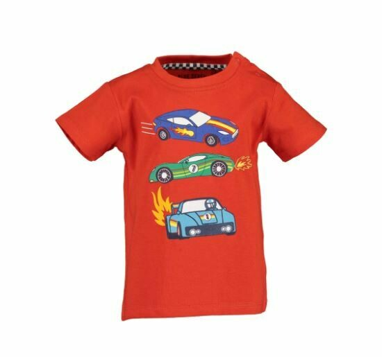 Blue Seven Baby Boys Racing  Cars Red Tee