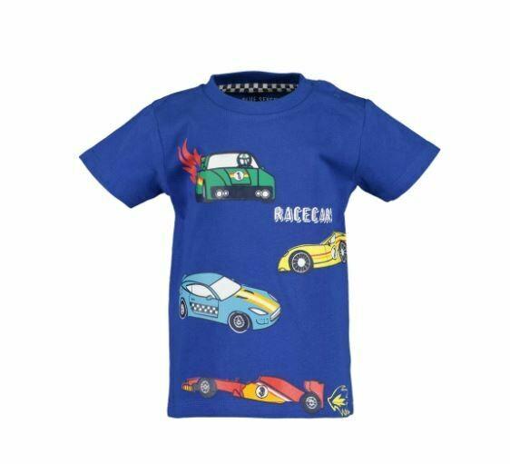 Blue Seven Baby Boys Racing  Cars Blue Tee