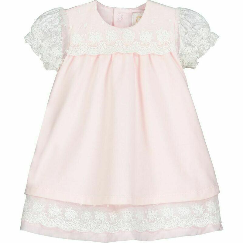 Emile et Rose Whisper Baby Girls Pink Dress
