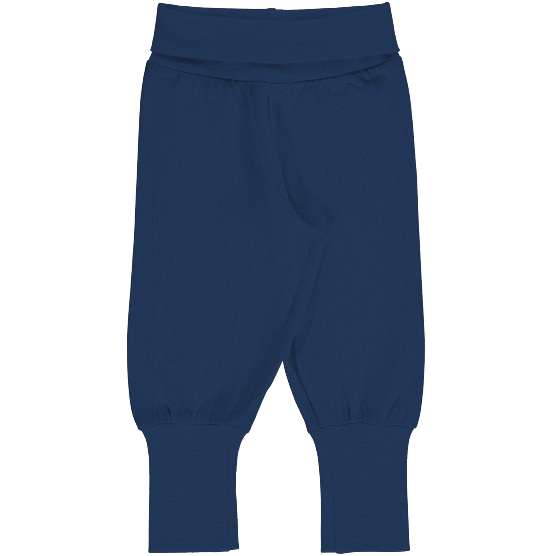 MAXOMORRA Plain Navy  Solid Pants Cuffed
