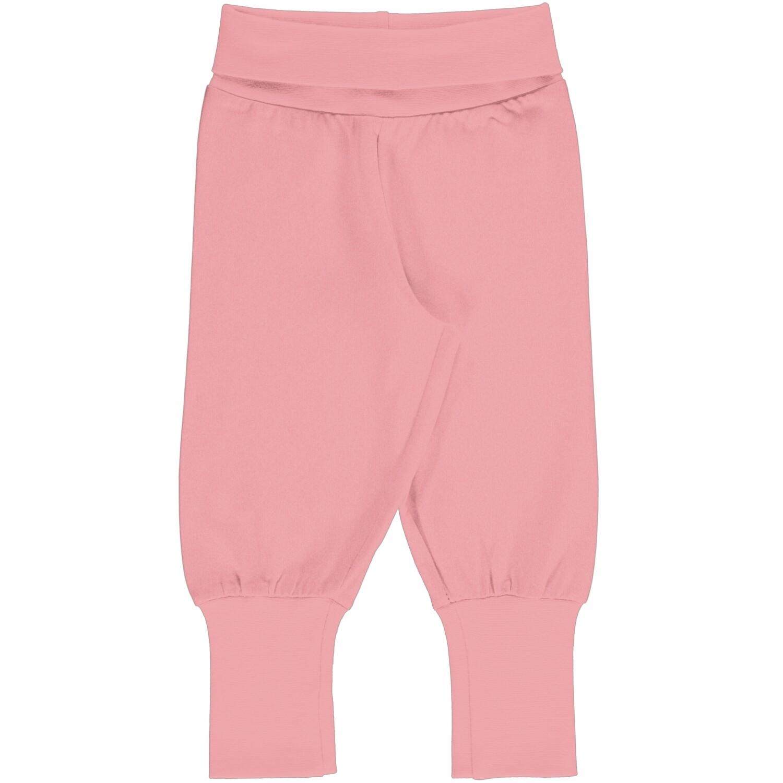 MAXOMORRA Plain Pink Blossom Solid Pants Cuffed