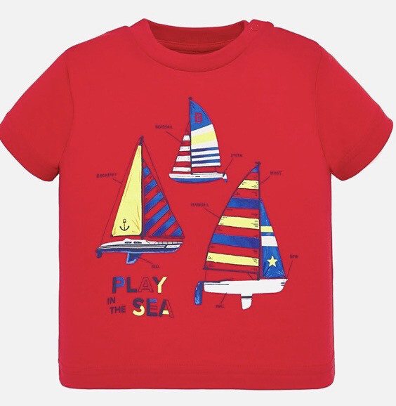 Mayoral Baby Boys Red Sailor Tee