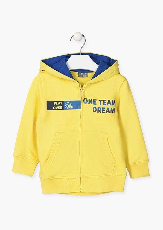 Losan Boy Yellow hoodie with Full Zip
