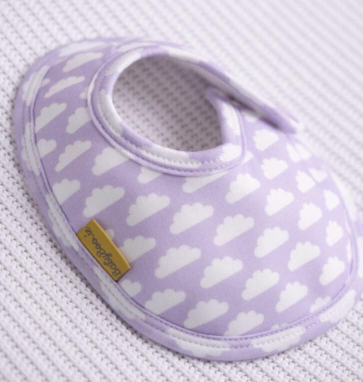 BabyBoo Newborn LILAC CLOUDS ORGANIC COTTON LITTLEBOO BABY BIB