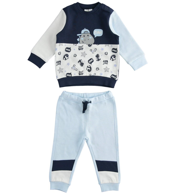 iDO Mini Boys Tracksuit Blue and Navy
