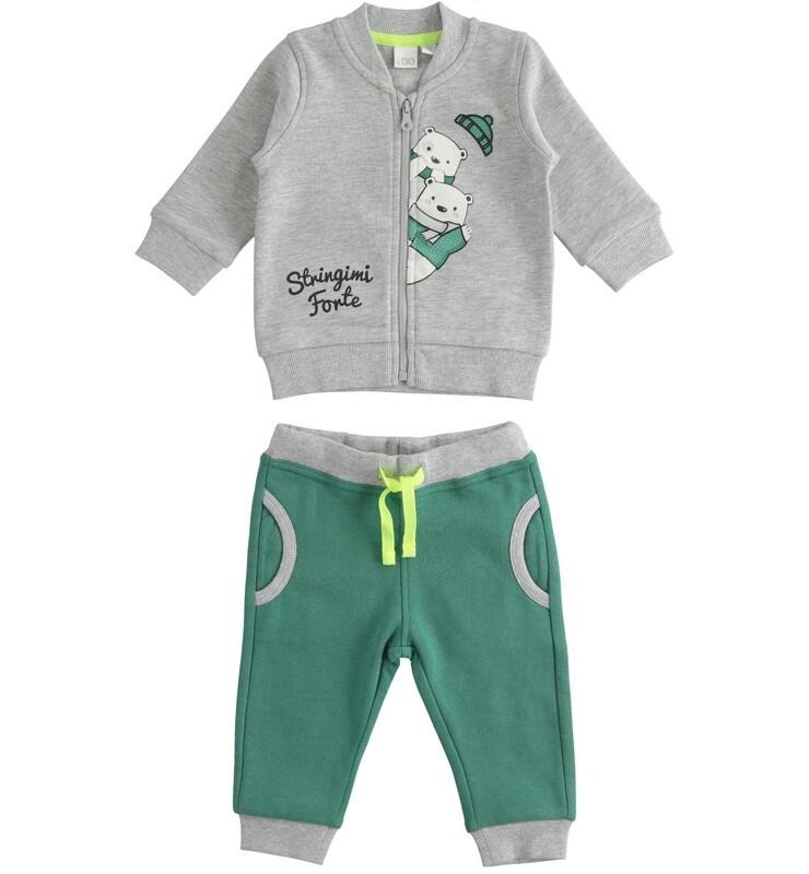 iDO Mini Boys Tracksuit Grey and Green