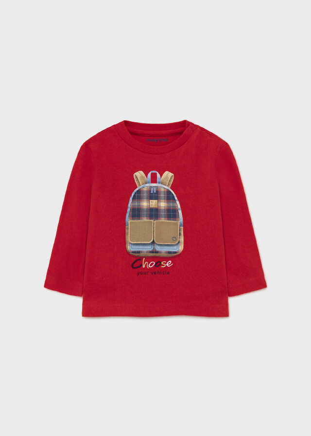 Mayoral PLAY WITH interactive print t-shirt for baby boy