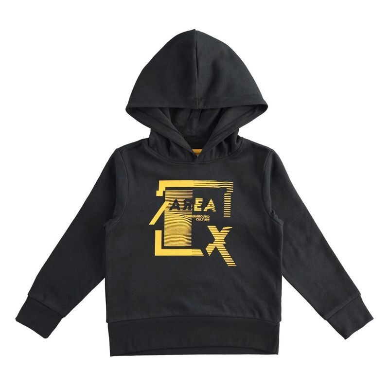 Boys Hood Sweatshirt Black with Hood