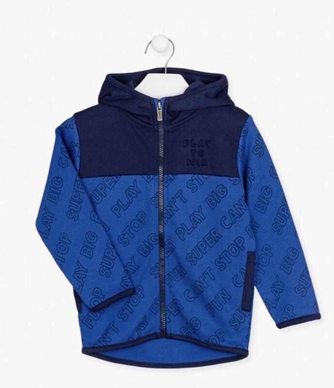 Losan Boys Raised print front jacket