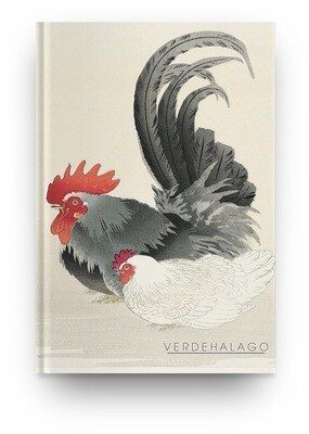 Libreta El gallo de Ohara Koson