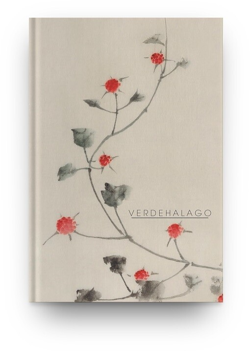Libreta Katsushika Hokusai Flores rojas