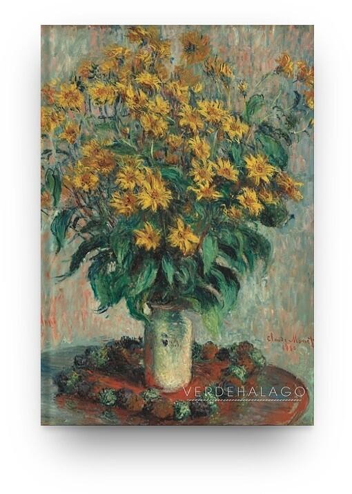 Libreta Claude Monet florero