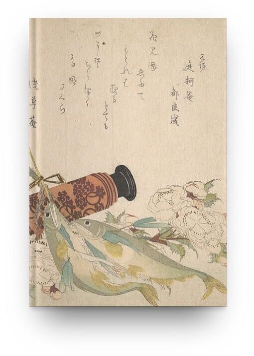 Libreta Katsushika Hokusai Naturaleza muerta