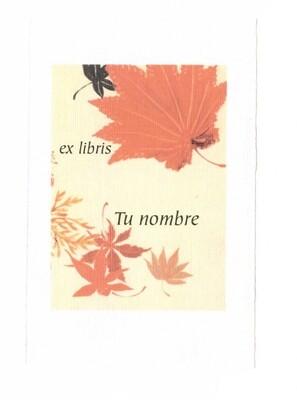 ex libris personalizado 64 piezas [Flor 02] envío incluido