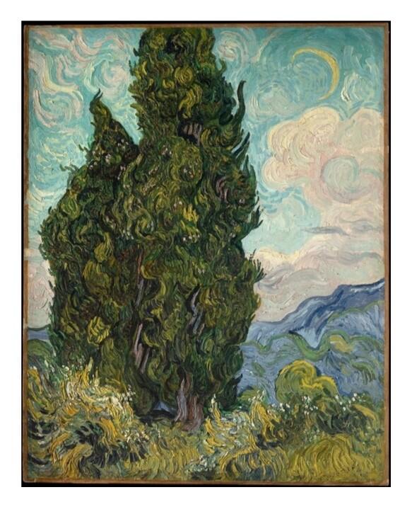 Cipreses de Van Gogh, impresión [No incluye marco]