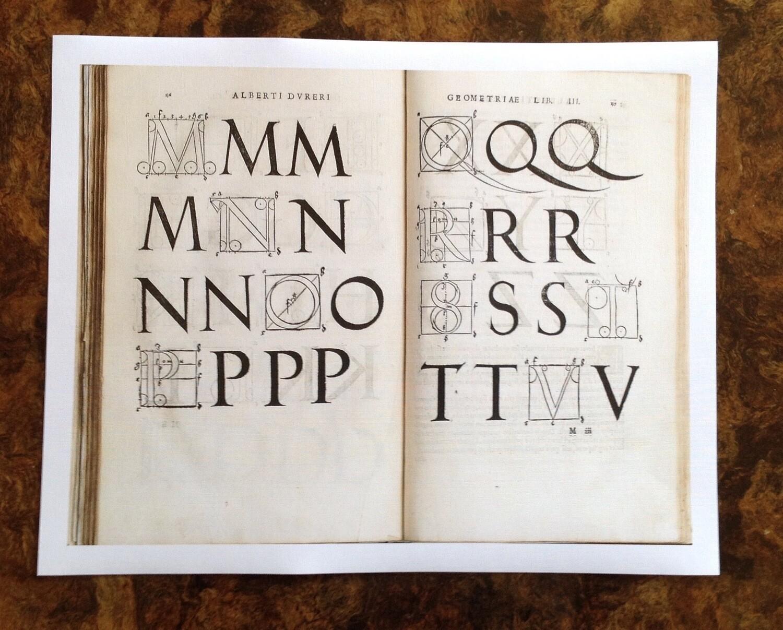 Tipografía Durero, impresión [No incluye marco]