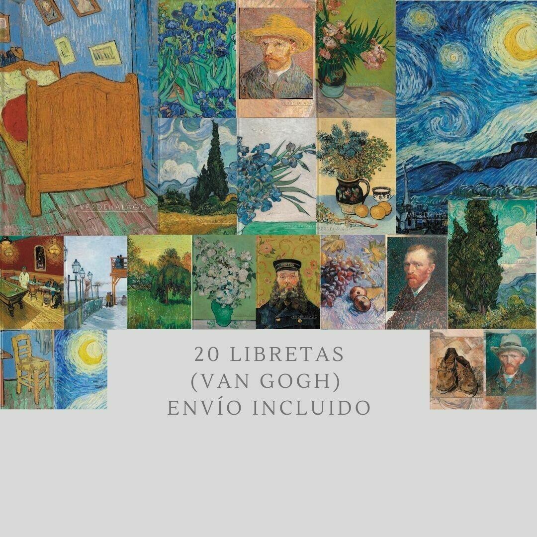 Paquete 20 libretas van Gogh 14 x 22.5 por 2599 pesos con envío incluido.  [Sobre pedido, 30 días en hacer]