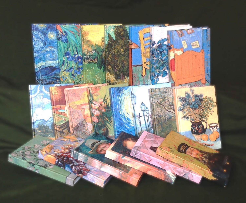 Paquete 21 libretas van Gogh 11 x 17 por 1799 pesos con envío incluido.