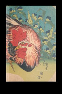 Libreta Gallo y gallina de Katsushika Hokusai