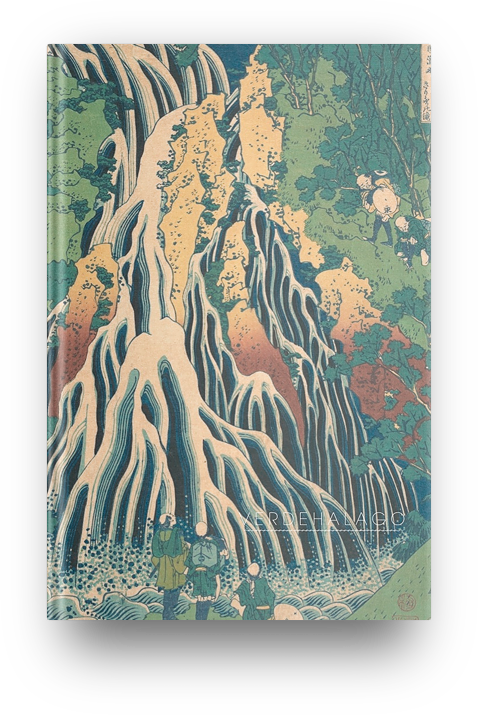 Libreta Cascada de Katsushika Hokusai