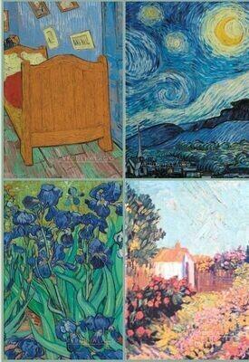 4 van Gogh 11 x 17 cm por 399 pesos envío incluido