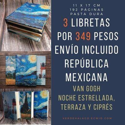3 libretas van Gogh por 369 pesos envío incluido [México]