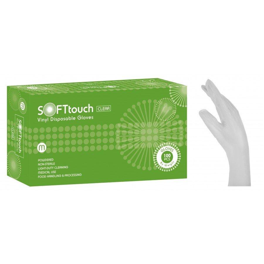 Γάντια βινυλίου λευκά με πούδρα Soft Touch (3,5gr) 1000 τεμάχια