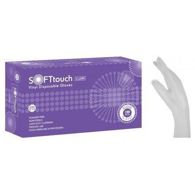 Γάντια βινυλίου λευκά χωρίς πούδρα Soft Touch (3,5gr) 1000 τεμάχια