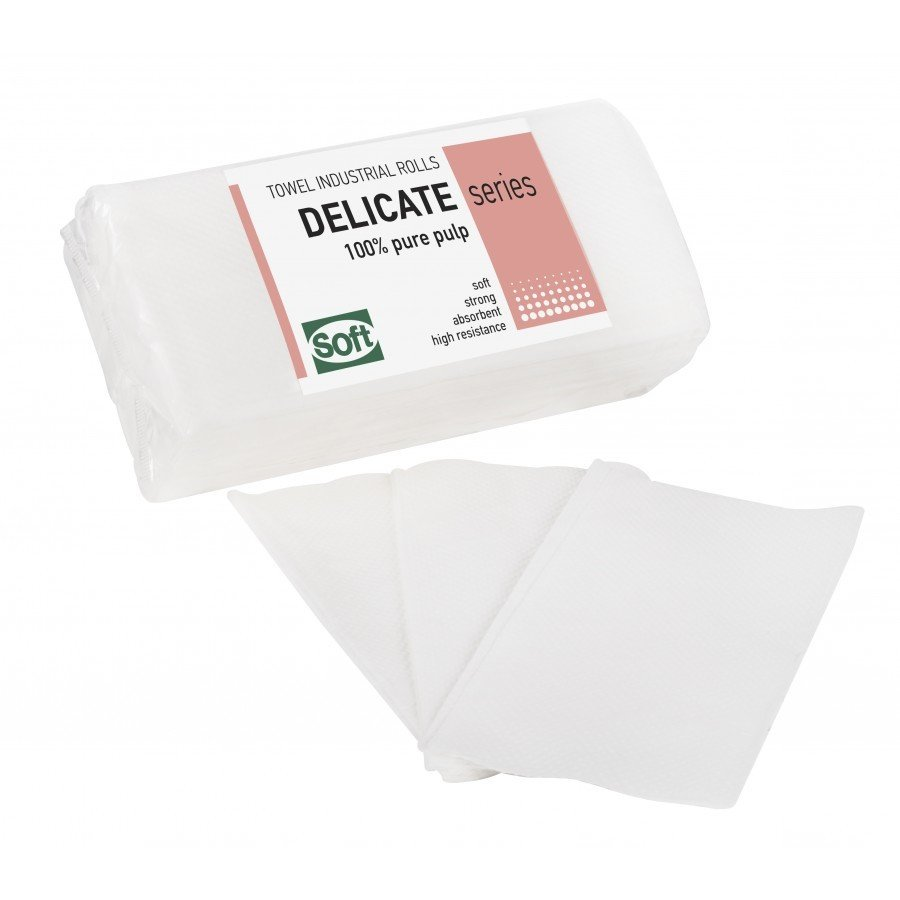Χειροπετσέτα ζικ ζακ λευκή (4000 τεμάχια)