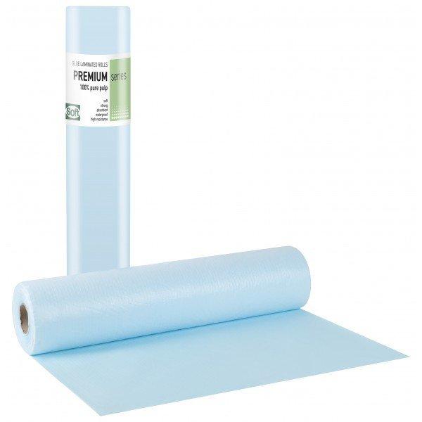 Πλαστικό+χαρτί κόλλα μπλε 50εκ x 50μ. (12 τεμάχια)