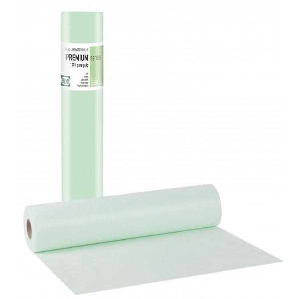 Πλαστικό+χαρτί κόλλα πράσινο 58εκ x 50μ. (12 τεμάχια)