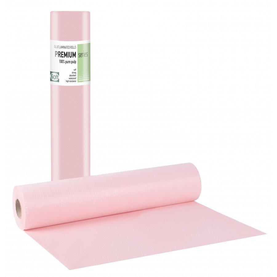 Πλαστικό+χαρτί κόλλα ροζ 68εκ x 50μ. (12 τεμάχια)