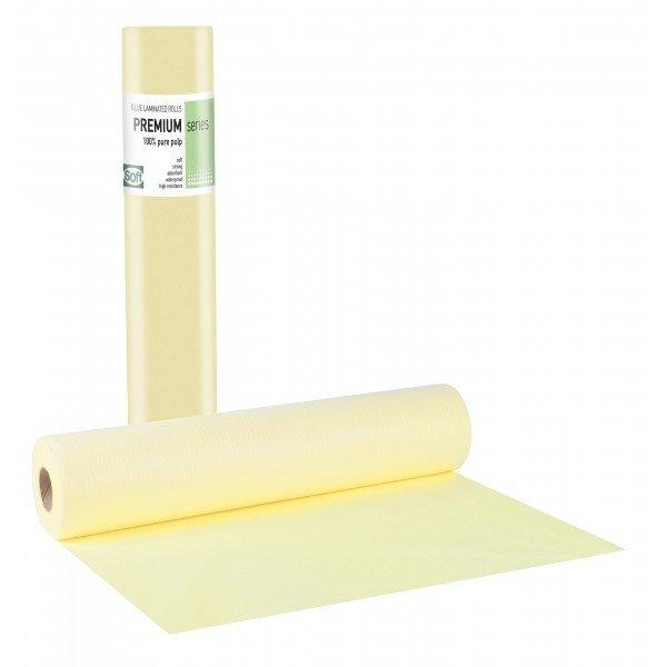 Πλαστικό+χαρτί κόλλα κίτρινο 68εκ x 50μ. (12 τεμάχια)