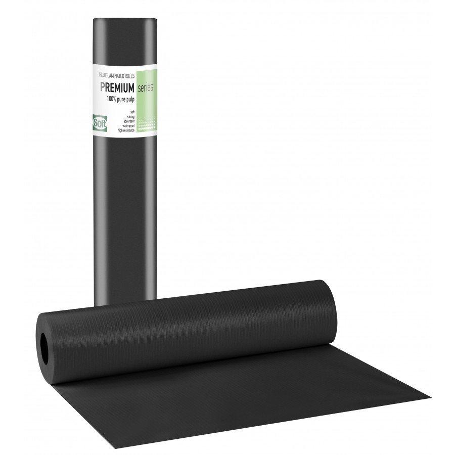 Πλαστικό+χαρτί κόλλα μαύρο 58εκ x 50μ. (12 τεμάχια)