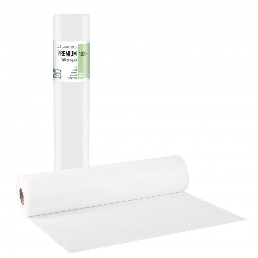 Πλαστικό+χαρτί κόλλα λευκό 58εκ x 50μ. (12 τεμάχια)