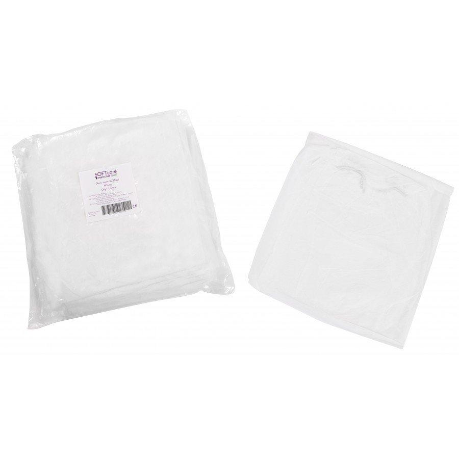 Φούστα εξεταστική non woven 25gr / m2 / 138cm x 80cm 100 τεμάχια (λευκή)