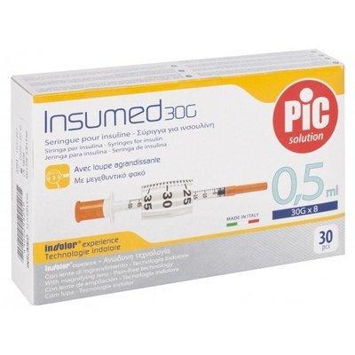 Σύριγγες Pic Ιταλίας 0,3cc insuline G-31 x 8mm (30 τεμάχια)